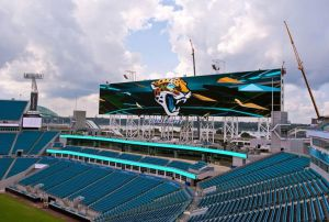 Más de 2.000 m2 de pantalla en el estadio de los Jaguars en Florida