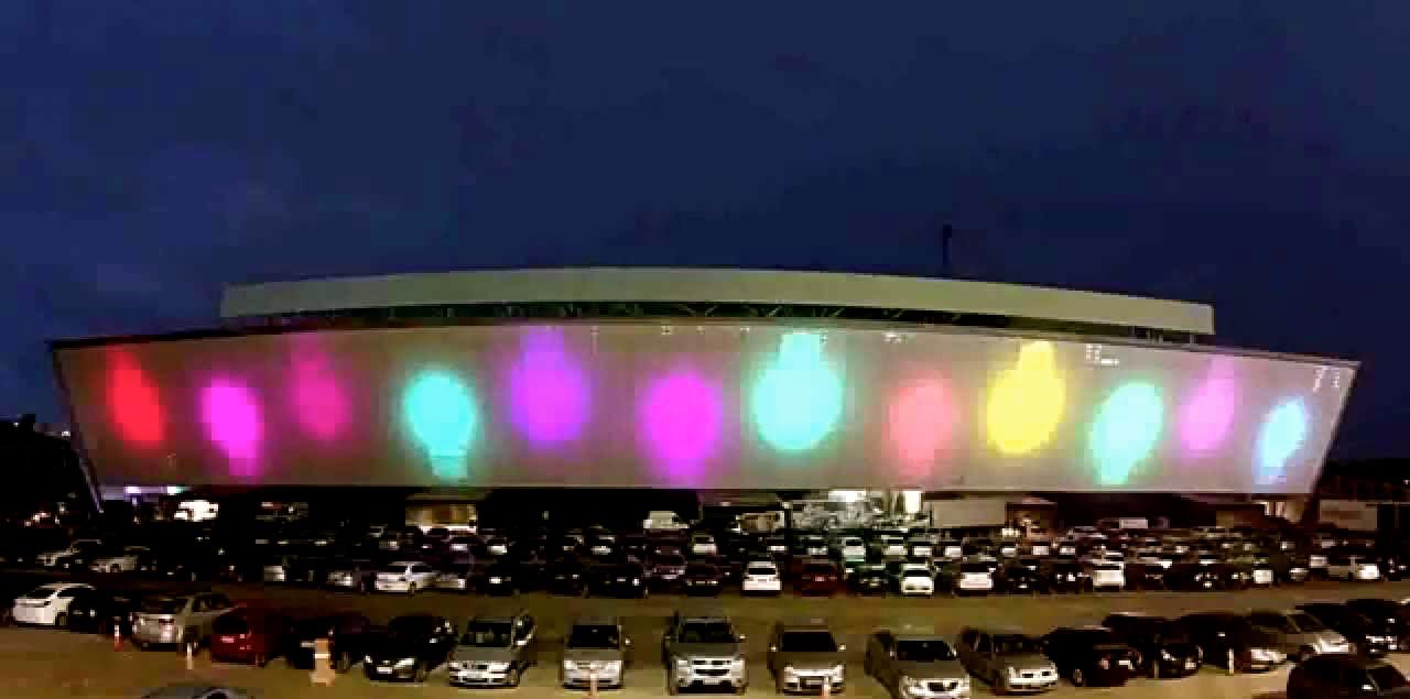 Pantalla de 3.400 m2 en el estadio de futbol del Corinthians